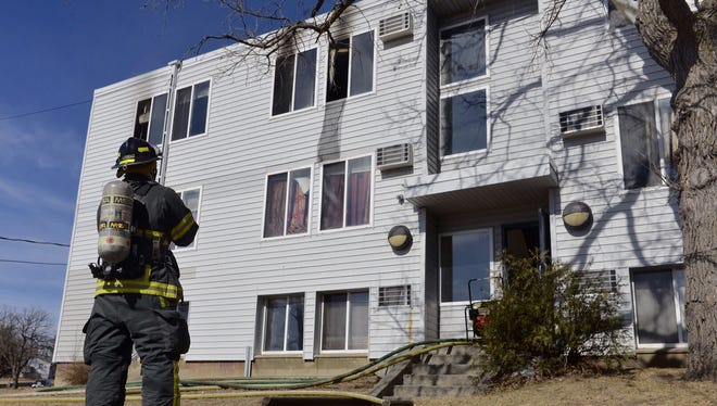 The fire occurred in a third-story apartment in a building at 1538 Sixth Ave. S.