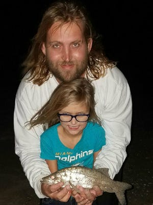 Bailey Welker caught and released this snook earlier in the year while fishing with her dad, Rick Welker, near the St. Lucie Inlet with live shrimp.