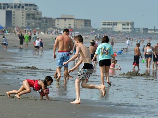Beachgoers Filled Cocoa Beach On Monday Afternoon
