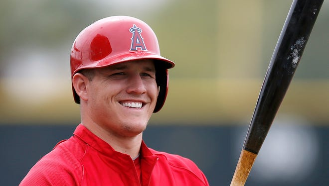 Mike Trout batted .323 with a .432 on-base percentage, 27 homers and 97 RBI last season.