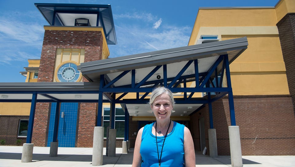 Carleene Finger, principal of the new Enka Middle School,