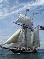 The Lynx Tall Ship will sail into Pensacola Bay on Tuesday and will dock at Plaza De Luna until March 11.