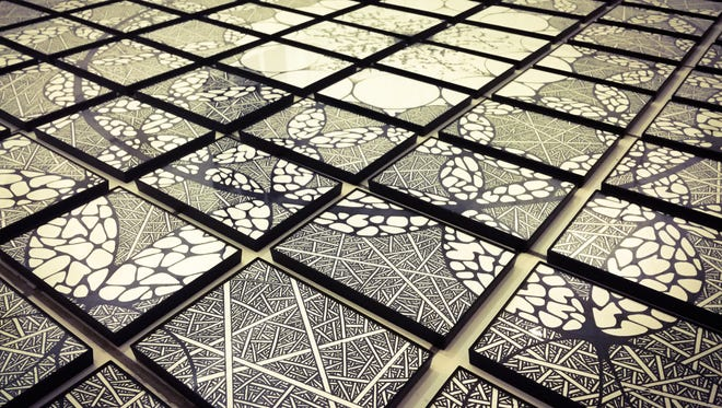 """""""Sustain,"""" an installation created with Sharpie on paper by Shohei Katayama, is in the exhibit """"Enbu"""" at PYRO Gallery."""