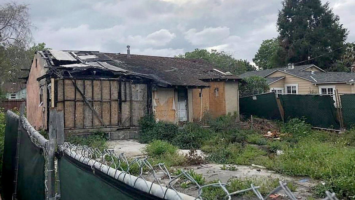 Overheated housing market? Burned-out Silicon Valley house on the market for $800,000