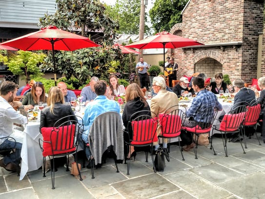 The outdoor patio at the Ryland Inn in Whitehouse Station