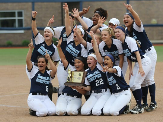 Immaculate Conception celebrates their victory against Wildwood Catholic.  Sunday, June 3, 2018