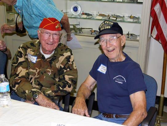 Walt Kocielski (left) of Millville, a U.S. Marine Corps