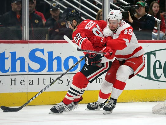 Red Wings prospect Dominic Turgeon  made his NHL debut in 2017-18, and could contend for a spot on next season's roster.