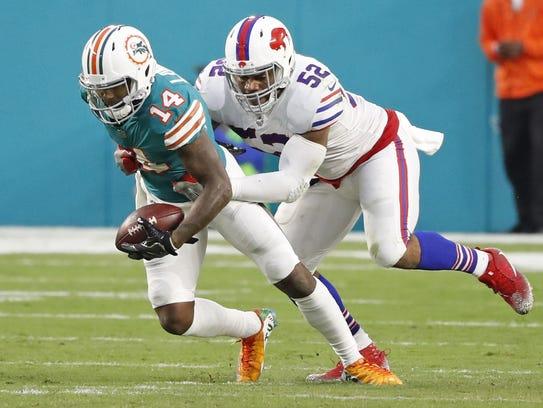 Buffalo Bills linebacker Preston Brown tied for the