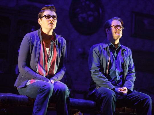 Kate Shindle as 'Alison' and Robert Petkoff as 'Bruce'