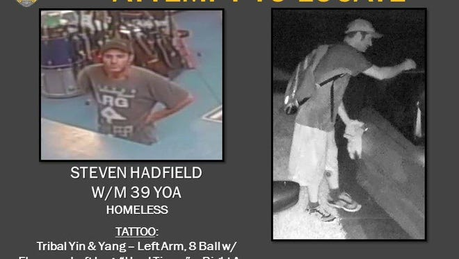 Palm Bay police created this poster of burglary suspect Steven Hadfield.