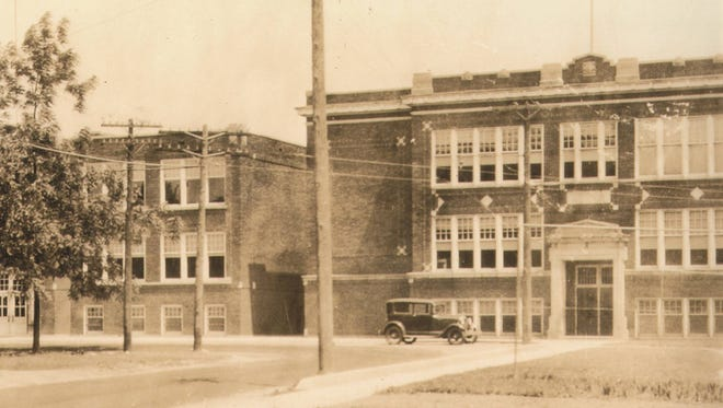 This may look like one building, but it's actually the 1916 building right next to the 1918 structure originally designed for high school students. Some historians say that the buildings were connected by bridge.
