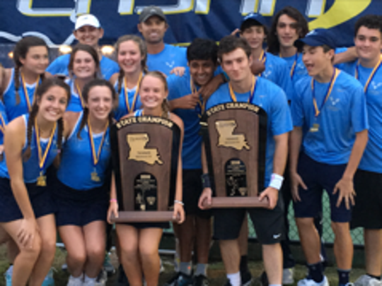 The Ascension Episcopal boys and girls tennis teams both won Division IV state championships.