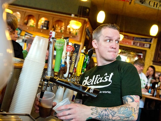 Molly Malone's bartenders are constantly on the move keeping the beer and spirits flowing.