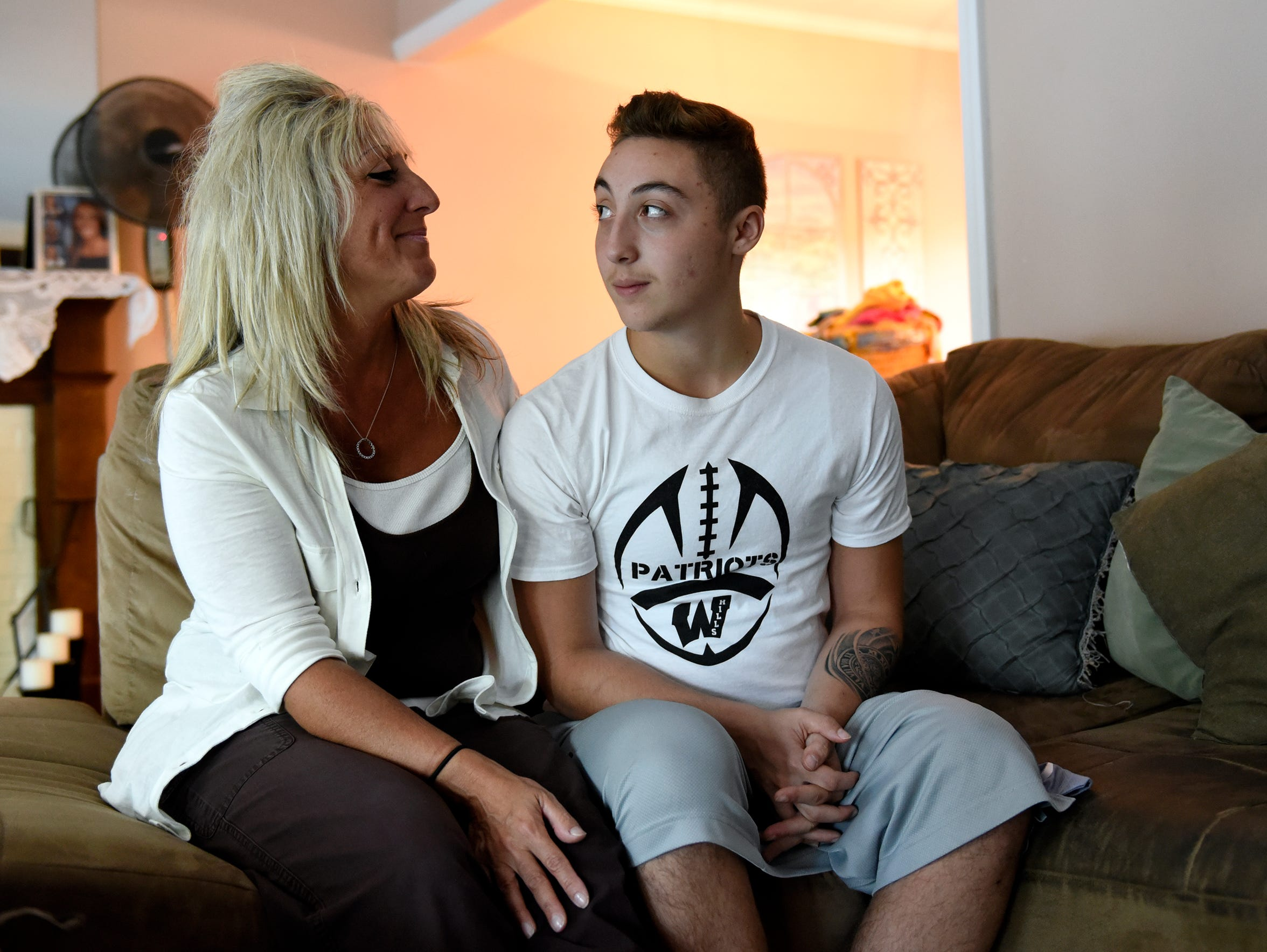 Gio Leotsakas and his mom, Nancy, said Wayne Hills