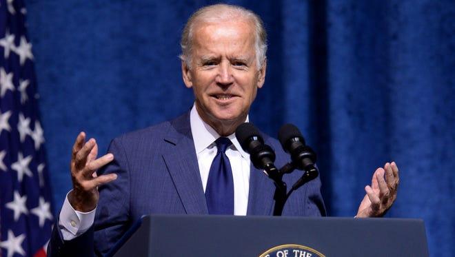 Vice President Joe Biden speaks in Chattanooga, Tenn., on Aug. 15.