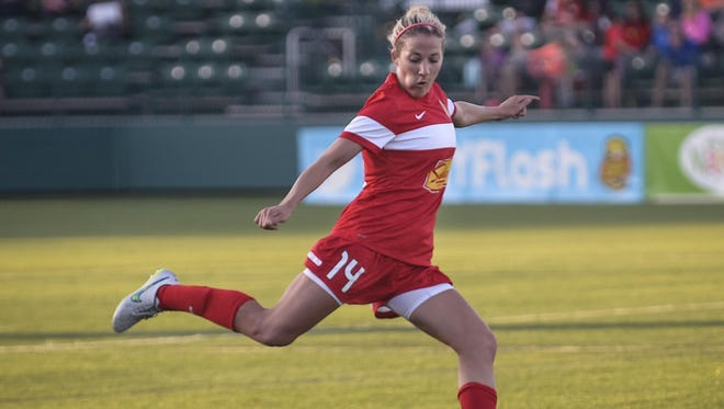 Becky Edwards played for the WNY Flash's 2011 WPS Championship team, starting in the midfield.