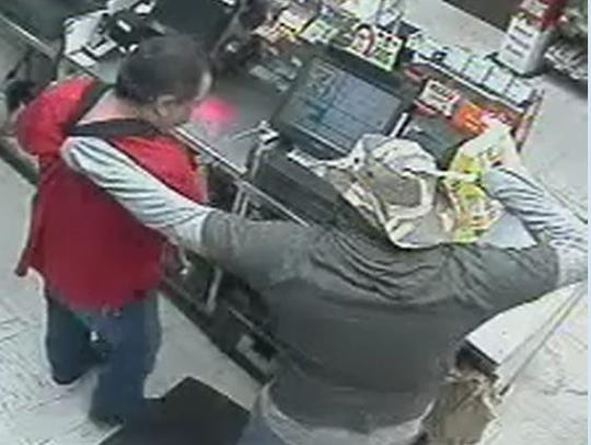 A man is wanted in a Central El Paso convenience store