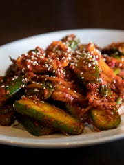 Cucumber kimchi is a variation of the popular Korean side dish.