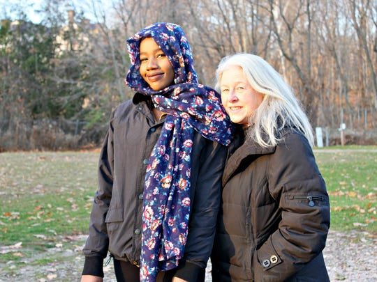 Johara Arbow, 17, of Essex, pictured on Monday alongside Lee Ann Donner, her mentor and the director of Spectrum Youth and Family Center's mentoring program.