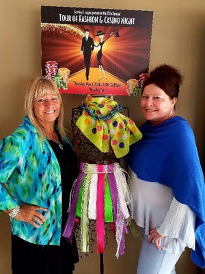 Pictured are 2018 Tour of Fashion/Casino Night Event Chairs Joan Buechel, chair; and Sandi Roehrig, co-chair. The event will be held May 3.
