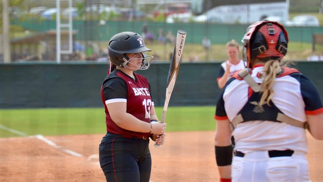 Amanda Taylor, 19, of Fair Lawn, scrapped together a more than 30 game season of her own after her college softball season at Bates College was canceled because of the pandemic. Photos courtesy of Donna Taylor.