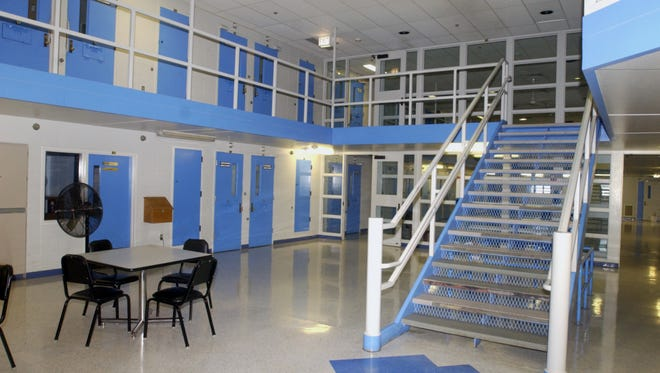 This 2006 file photos shows the inside the W Living Center which was one of the last buildings to be built to house inmates at the Oshkosh Correctional Center.
