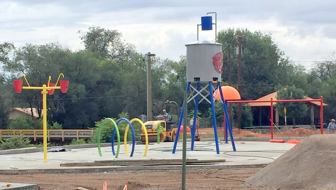 The Village of Santa Clara is nearing completion of its Splash Park.