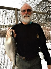 Alan Franchot of Richmond caught a record cisco, also