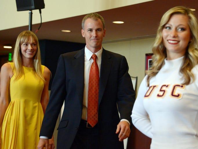 USC coach's ex-model wife Amanda Marcum