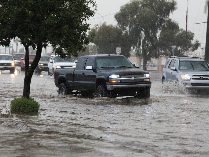 El Departamento de Transporte de Arizona informó de varios accidentes durante la tormenta.