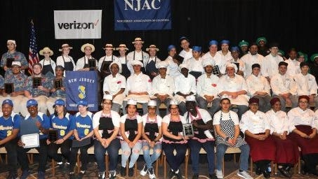 Culinary art students from 2017 cook-off challenge.