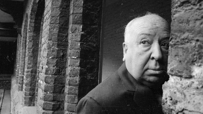British film director Alfred Hitchcock (1899 - 1980) in Cambridge in 1966.