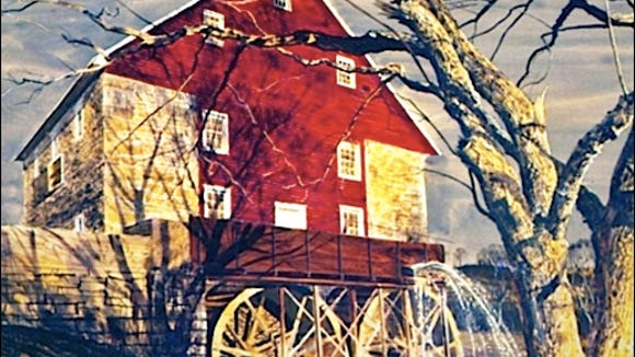 Print of Bunker Hill Mill (2015 Photo by S. H. Smith)