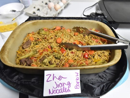 Zha jiang noodles was one of the Asian recipes shared by the Taste Testers cookbook club at its April meeting at the Kewaunee Public Library.