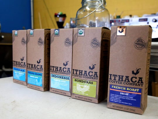 Ithaca Coffee Company now packages its coffee in boxes to help them stand out.