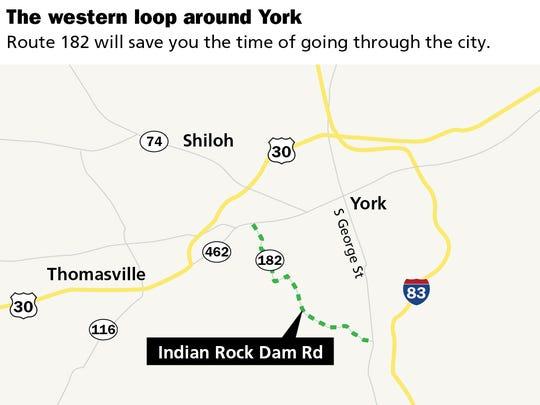 The western loop around York