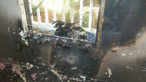 A fire caused by a window air conditioner caused about $10,000 in damage, and forced a woman and her dog out of their home.