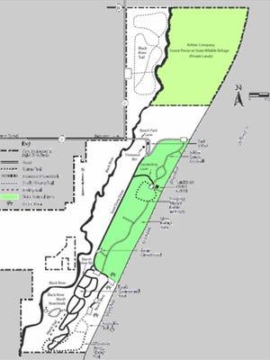 Kohler-Andrae State Park map