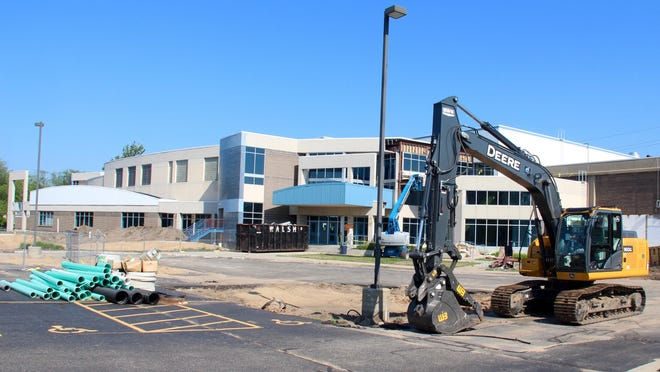 Holland Community Aquatic Center has broken ground on its $26.3 million expansion and crews are making progress at 550 Maple Ave.