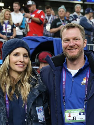 Dale Earnhardt Jr. and wife, Amy, welcomed a daughter on Tuesday.