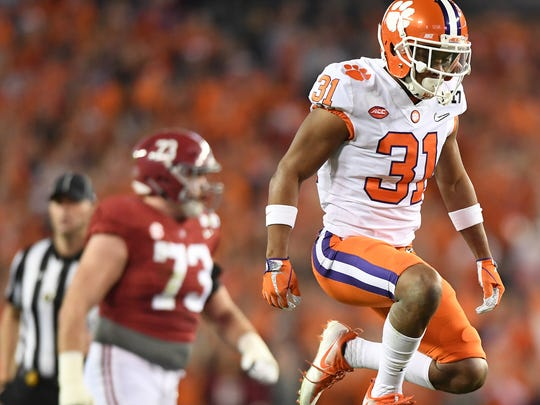 Clemson defensive back Ryan Carter (31) is expected to retain his starting job in the secondary.