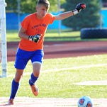 Goal-keeper Ian Tesarz has played a key role in the Garden City soccer team's recent surge.