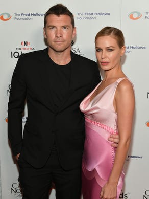 Sam Worthington and wife Lara Bingle also have a son