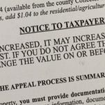 Notices mailed to property owners explain the process for appealing a change in property values.