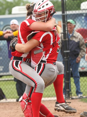 Oak Harbor's Ashley Riley, left, is one of the athletes honored in this year's Michael K. Bosi series.