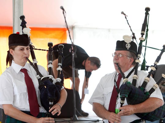 Members of the Susquehanna Pipes & Drums will again roam the festival grounds throughout the day at the Penn-Mar Irish Festival. Festival merchandise includes hats, t-shirts, water bottles and backpacks. Face painting is one of several activities for youngsters available at the festival.