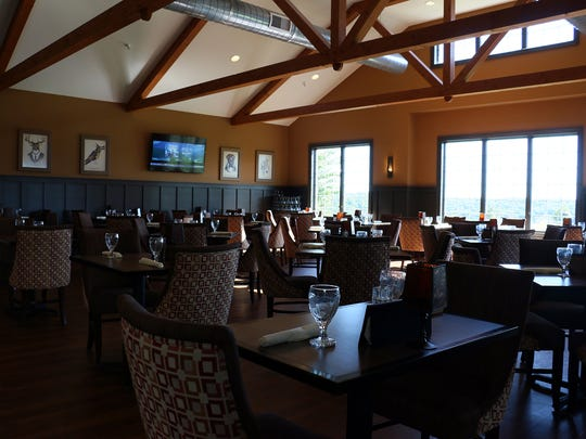 The inside seating area at Wyndridge Farm provides a good setting for a date night.
