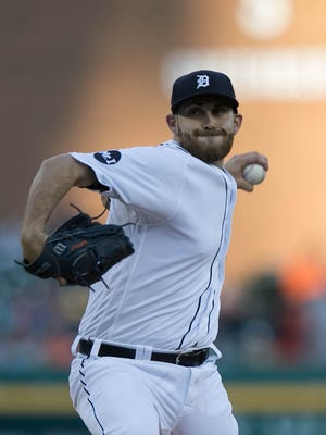 Tigers pitcher Matthew Boyd pitches during the first inning Sunday at Comerica Park.