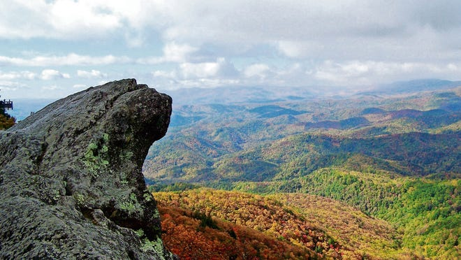 The Blowing Rock in North Carolina.